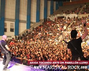 Savia tocando en Puebla