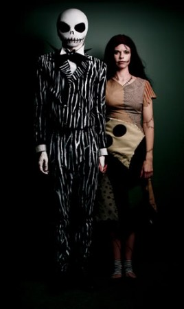 Aprende a maquillarte como Jack y Sally para Halloween :D