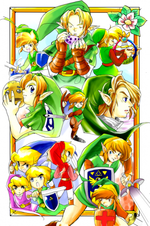 Todos los Links de la legenda de Zelda