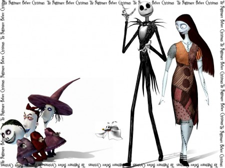 Jack, Sally y los muchachos de Nightmare Before Christmas