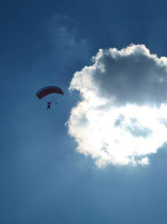 Salto en paracaidas en Cuautla, Morelos