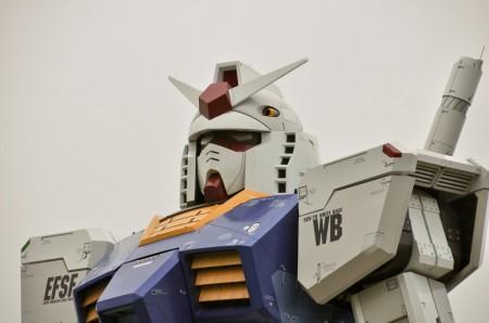 Gundam tamaño real en tokio, foto cortesía de aeromental.com