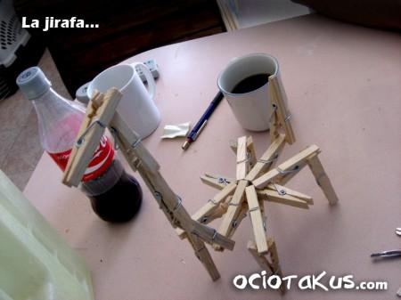 Jirafa de madera
