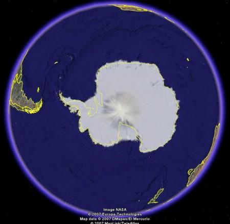 Polo Sur, muy extraño