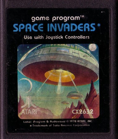 Cartucho de Space Invaders para el Atari (1978)