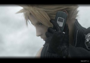 Telefono celular de Cloud en Final Fantasy Advent Children