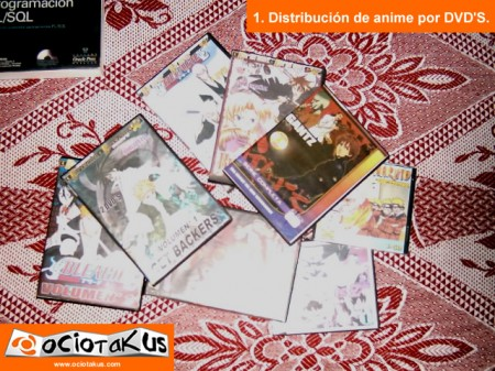 Distribuión de Anime por DVD's de forma ilícita.