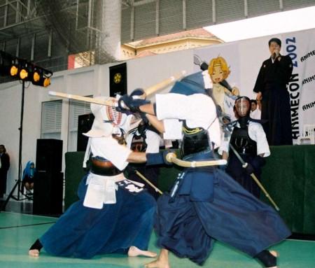 Una excelente batalla de Kendo!.