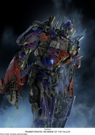 Optimus Prime golpeado