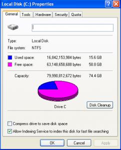 Chequeando el disco duro