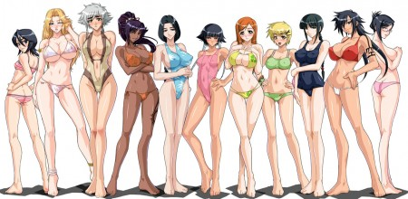 Chicas Bleach listas para la playa
