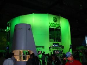 Booth verdoso de Xbox