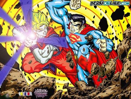 Goku kamehameha a superman