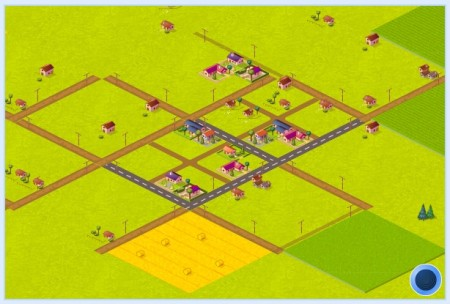 Ociotakuland con 30 Habitantes, un par de carreteras y sembradíos