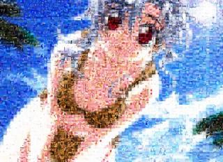 Imagen en mosaico de la anime babe