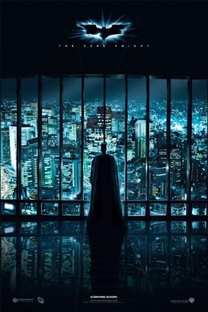Batman vigilando ciudad Gótica
