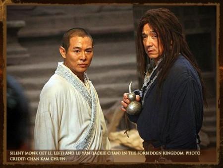 Jackie Chan y Jet li en Forbidden Kingdom