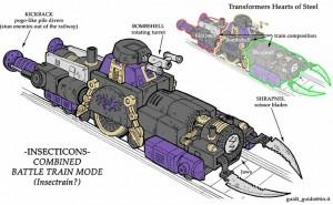 Transformer insecto-tren