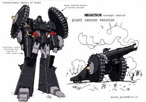 Transformers Evolution Megatron Cañón