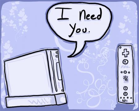 Tarjeta San valentín Nintendo Wii