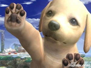 Super Smash Bros Brawl -Nintendog molestón