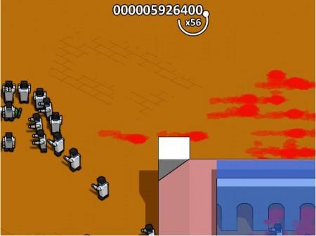 Muerte a mano de los zombies...